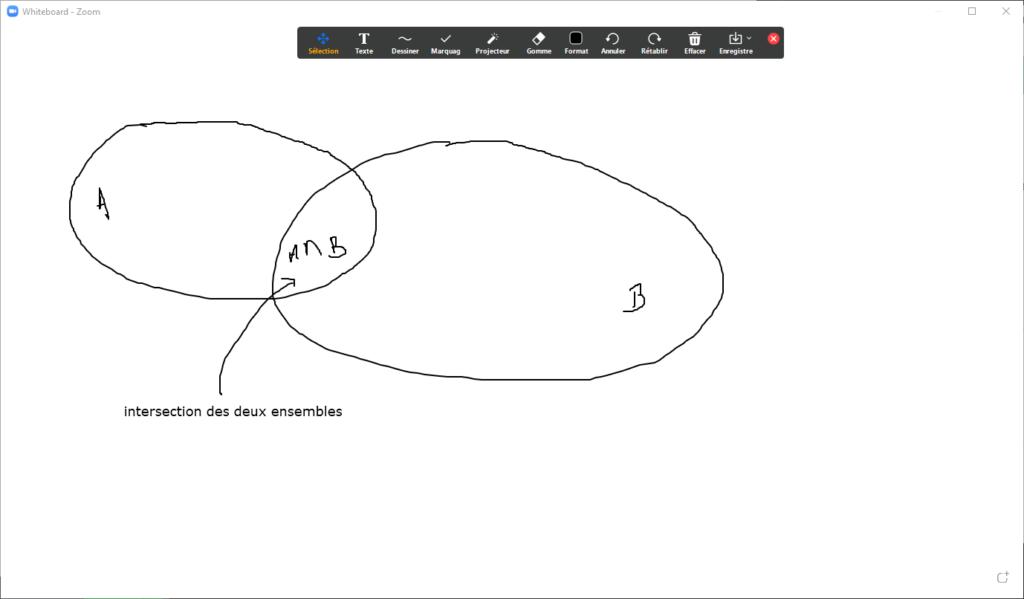 tableau blanc zoom cours mathematiques webcam