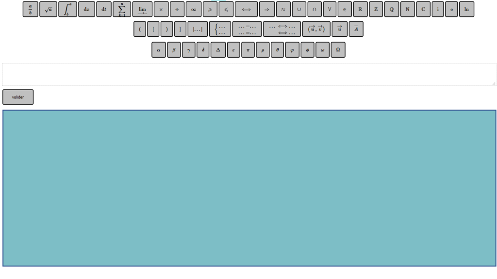 tableau interactif cours mathématiques webcam